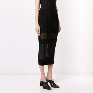 Dion Lee opacity pleat stretch midi pencil skirt